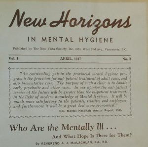"""old journal cover """"New Horizons in Mental Hygiene"""""""