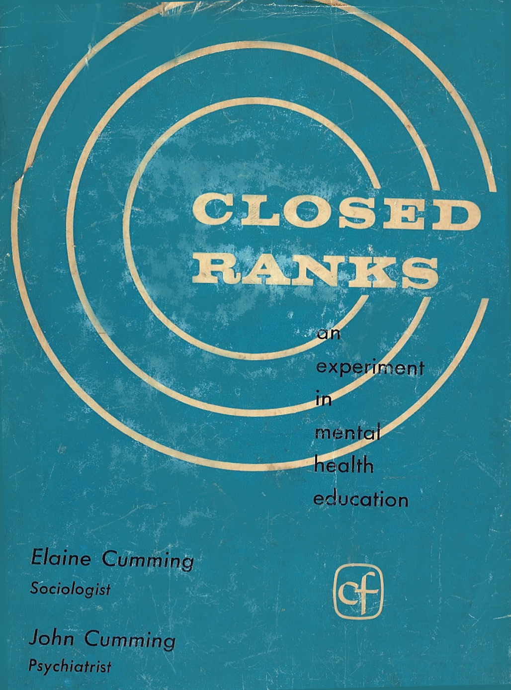 old blue book cover with title Closed Ranks