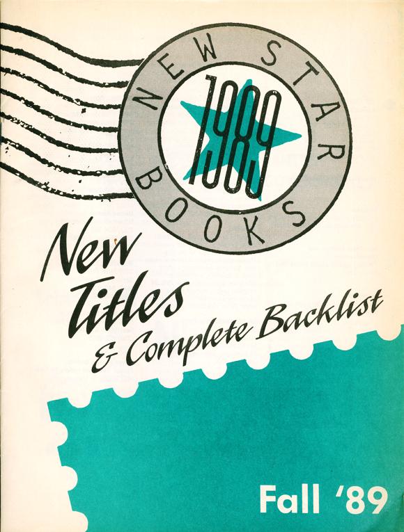 brightly coloured New Star books catalogue, circa 1980s