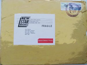 battered brown envelope from New Star to Weitz