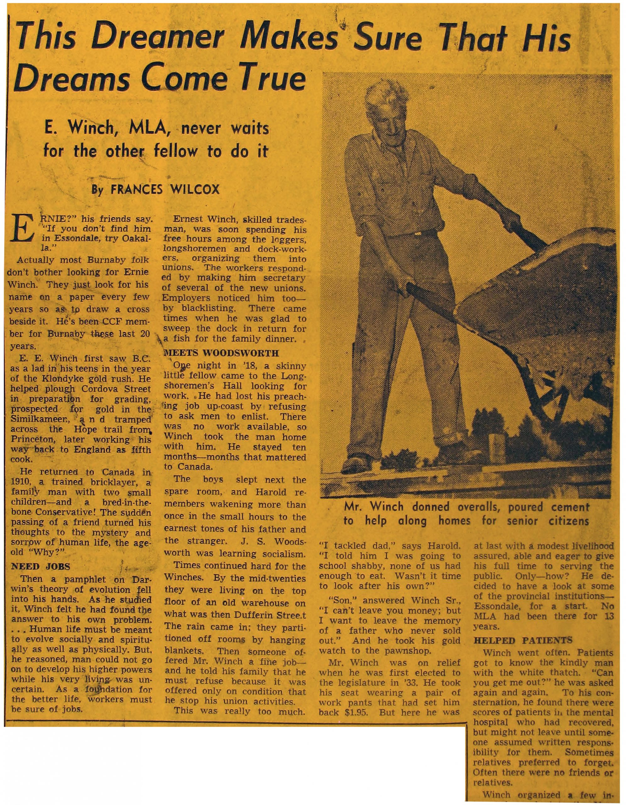 old newspaper article
